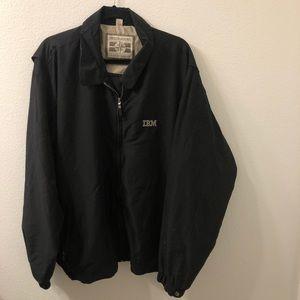 IBM Windbrekaer jacket black vtg 2XL